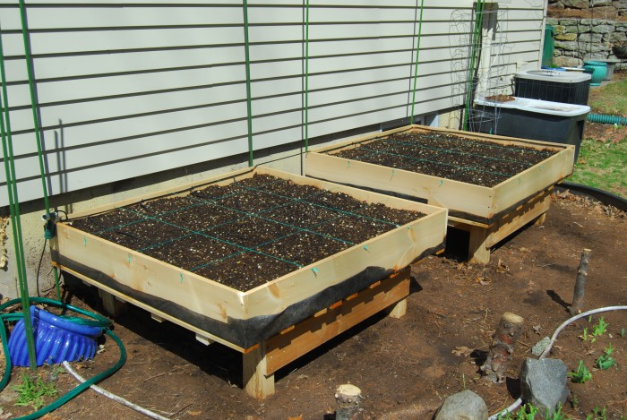 Square Foot Gardening Raised Bed Finished